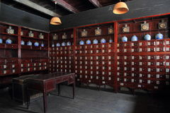 Old Chinese pharmacy Royalty Free Stock Image