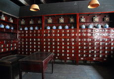 Old Chinese pharmacy Stock Photo