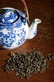 Old Chinese porcelain teapot Stock Photo