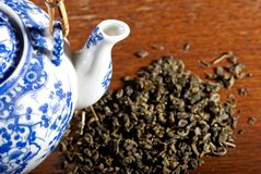 Old Chinese porcelain teapot Royalty Free Stock Photos