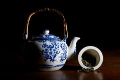 Old Chinese porcelain teapot Royalty Free Stock Image