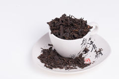 Old chinese Pu-Erh tea. Chinese Pu-Erh tea in cup.  Photo taken on: January 17th, 2014 Stock Photos