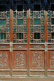 Old chinese red door stock photos