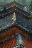 Old Chinese rooftops. Overhead view of old rooftops of Chinese homes in city, Hebei province, China Royalty Free Stock Photography