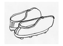 Pair of shoes illustration Stock Images