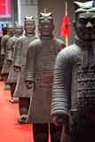 Old chinese soldier statue copy imitation. Chinese symbol Royalty Free Stock Photo
