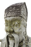 Old Chinese stone statue in wat Po Royalty Free Stock Image