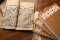 old Chinese style book Royalty Free Stock Photography
