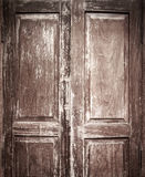 Old Chinese style door with vignette. Vintage Chinese Style door with texture and intended vignette Stock Photo