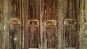 Old Chinese style wooden door. Royalty Free Stock Image