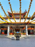 Old Chinese Temple. Exterior of an Old Chinese Temple - Namely Thean Hou Temple in Kuala Lumpur Royalty Free Stock Photo