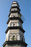 Old Chinese tower. Ancient watch tower in Chinese city Shaoxing, Zhejiang province Royalty Free Stock Image