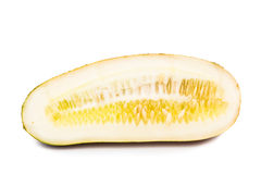 Old Chinese yellow cucumber, common ingredient for soup among Asians Stock Image