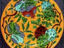 OLd Chinese Yellow Green Ceramic Plate  Panjuan Flea Market  Bei. Old Chinese Design Yellow Green Ceramic Plate  Panjuan Flea Market  Beijing China. Panjuan Flea Royalty Free Stock Image