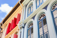 Old Chino Portuguese Architecture in Singapore Royalty Free Stock Images