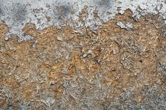 Old chipboard as background. Rusty painted beige chipboard as background Royalty Free Stock Photo