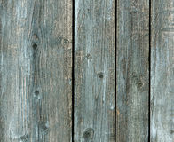 Old chipboard paited fence. Royalty Free Stock Photos