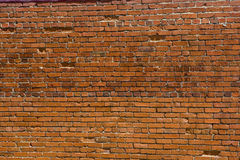 Old Chipped and Broken Brick Wall Royalty Free Stock Images