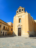 Old chirch on the Piazza Europa in Favignana Royalty Free Stock Photography