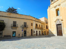 Old chirch on the Piazza Europa in Favignana Royalty Free Stock Image
