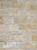Old Chisel Textured Stone Wall. Royalty Free Stock Photography