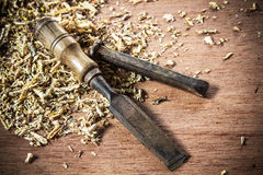 Old chisel Royalty Free Stock Photo