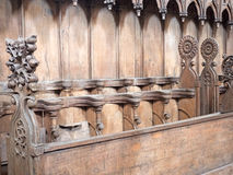 Old choir stalls Stock Photography