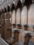 Old choir stalls Stock Photo