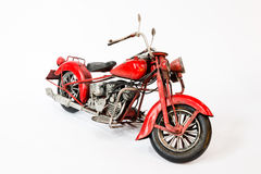 Old chopper motorcycle model Royalty Free Stock Image