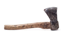 Old chopping axe. All on white background stock images