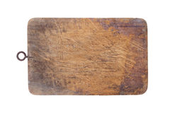 Old chopping wooden block Royalty Free Stock Photos