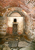 Old christian catacombs in greece. Catacombs under an orthodox church in Greece Stock Image