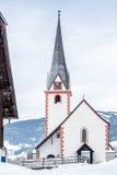 Old Christian church at highland Austrian town Stock Photo