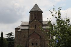 Old christian church Metekhi in Tbilisi city stock images