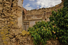 Old christian church ruin on Sicily Royalty Free Stock Photography
