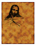 Old Christian parchment Royalty Free Stock Photo