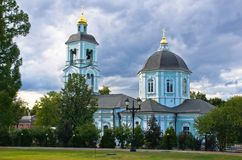 Old Christianity church in the summer park Royalty Free Stock Images