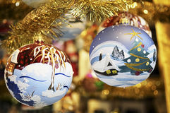 Old christmas baubles Stock Photo