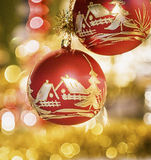 Old christmas baubles Royalty Free Stock Photos