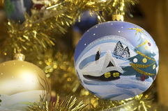 Old christmas baubles Stock Photos