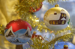 Old christmas baubles Stock Image
