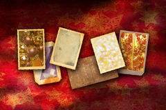 Old Christmas borders Royalty Free Stock Photos