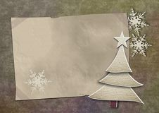 Old christmas card. On grunge paper Stock Photo