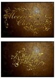 An old Christmas card. 01 Royalty Free Stock Photo