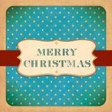 Old Christmas Card. Vintage font Stock Images