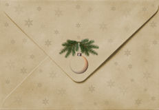 Old Christmas envelope Stock Photography