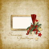 Old Christmas greeting card Stock Photography