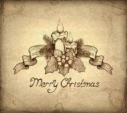 Old Christmas Greeting Card Stock Image