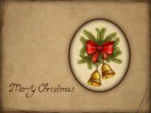 Old christmas greeting card Stock Image