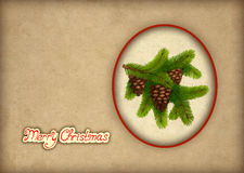 Old christmas greeting card Royalty Free Stock Photography